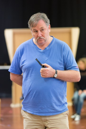 Christopher McCalphy in rehearsal for Love's Labour's Lost 2014