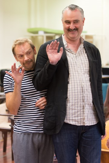 Nick Haverson and John Hodgkinson in rehearsal for Love's Labour's Lost 2014