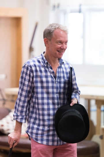 Jamie Newall in rehearsal for Love's Labour's Lost 2014