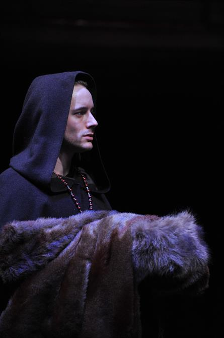 Performance image of Sam Marks as Friar Peter.