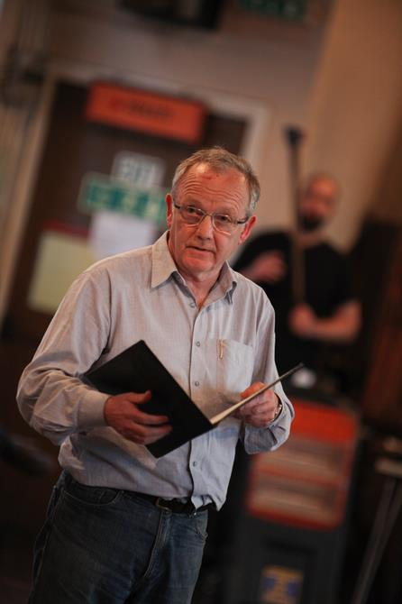 Bruce Alexander in rehearsal for Measure for Measure.