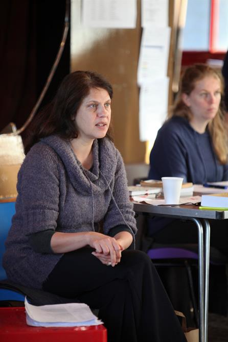 Director Roxana Silbert in rehearsal for Measure for Measure.