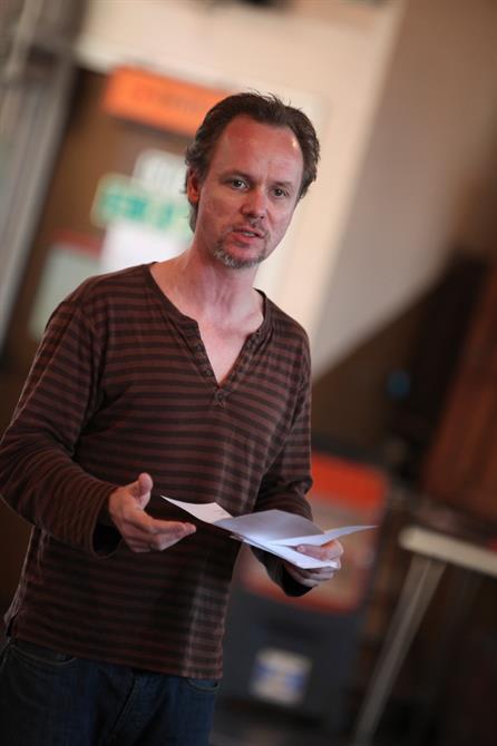 Jamie Ballard in rehearsal for Measure for Measure.