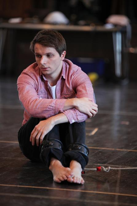 Mark Quartley  in rehearsal for Measure for Measure.