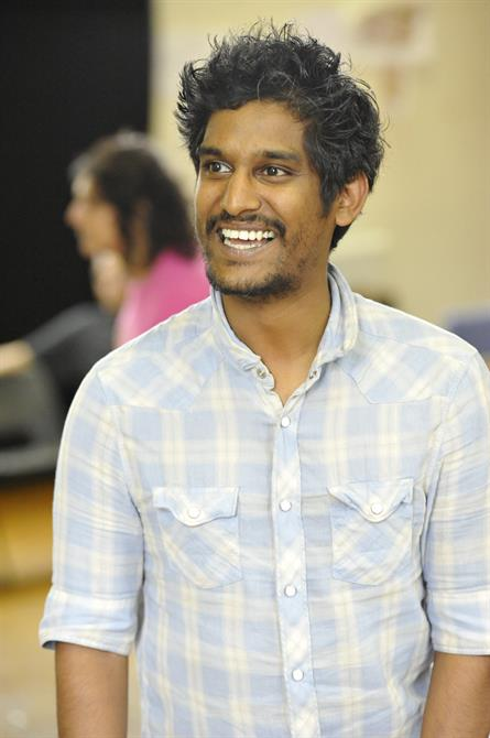 Shiv Grewal as Don Pedro in rehearsal for Much Ado About Nothing.
