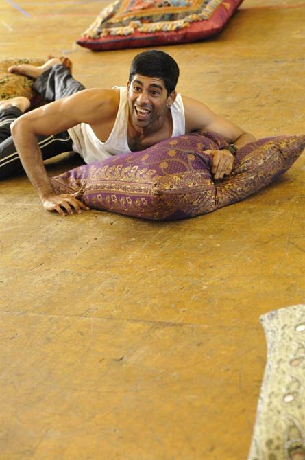 Darren Kuppan as the Messenger in rehearsal for Much Ado About Nothing.