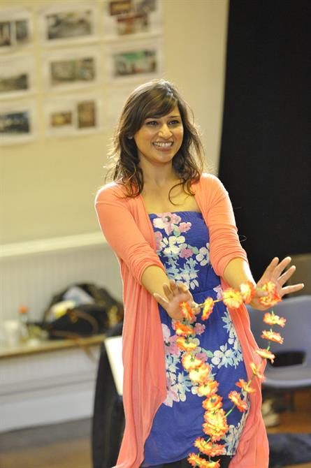 Chetna Pandya as Margaret in rehearsal for Much Ado About Nothing.