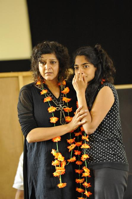 Meera Syal as Beatrice and Amara Karan as Hero in rehearsal for Much Ado About Nothing.