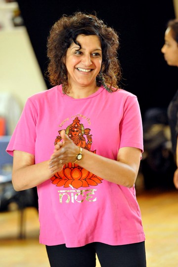 Meera Syal as Beatrice in rehearsal for Much Ado About Nothing.