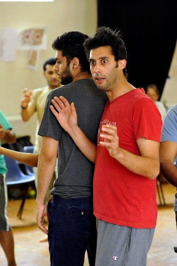 Robert Mountford as Friar Francis in rehearsal for Much Ado About Nothing.