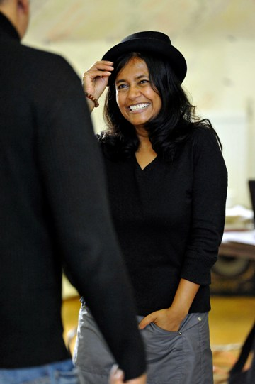 Bharti Patel as Verges in rehearsal for Much Ado About Nothing.