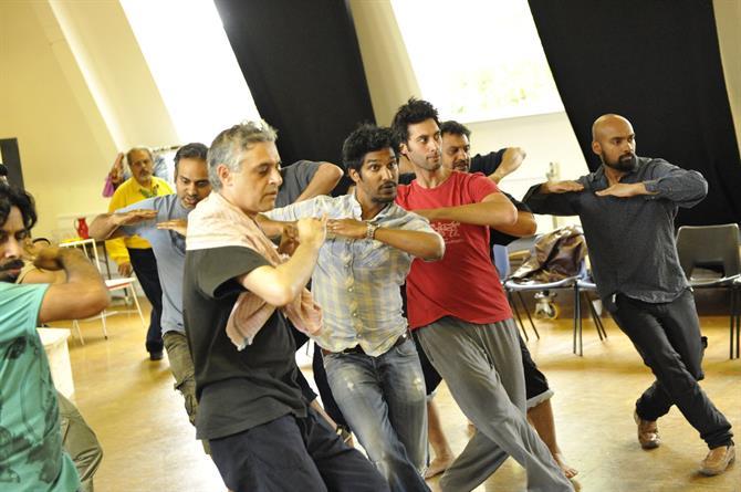 The company in rehearsal