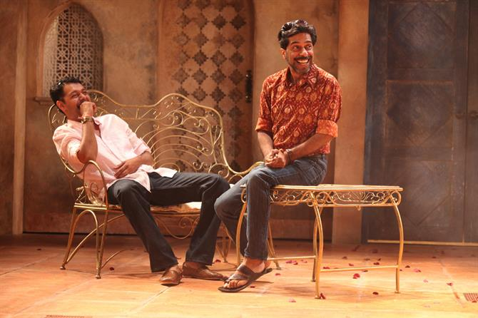 Sagar Arya as Claudio and Shiv Grewal as Don Pedro in Much Ado About Nothing