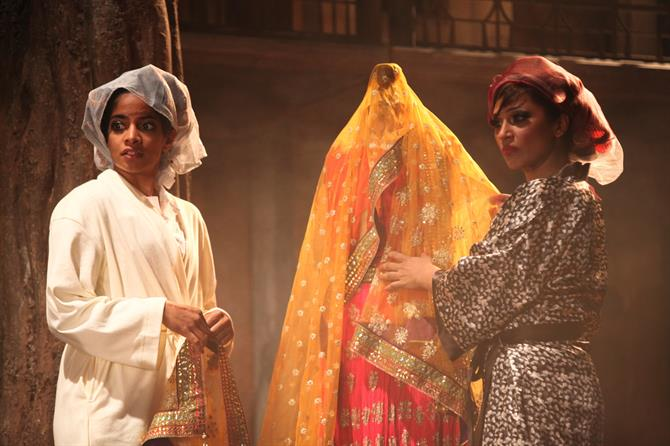 Amara Karan as Hero and Chetna Pandya as Margaret in Much Ado About Nothing.