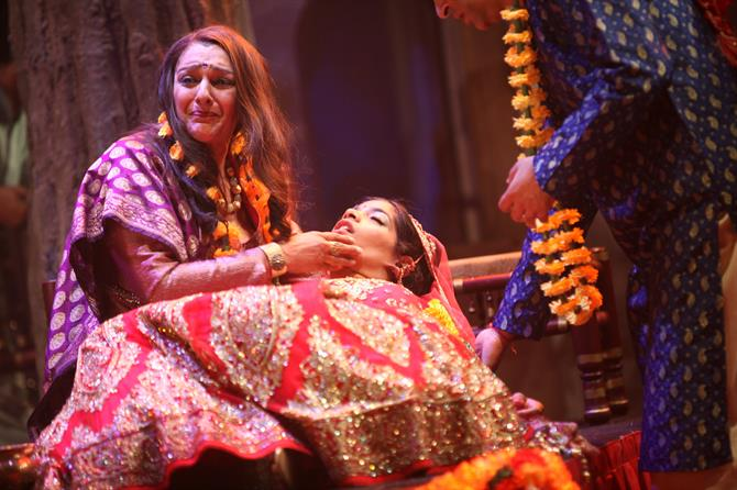 Meera Syal as Beatrice and Amara Karan as Hero in Much Ado About Nothing