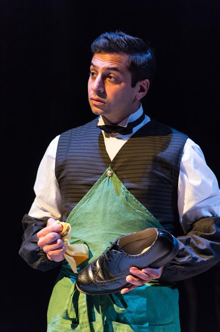 Chris Nayak as Borachio in Love's Labour's Won.