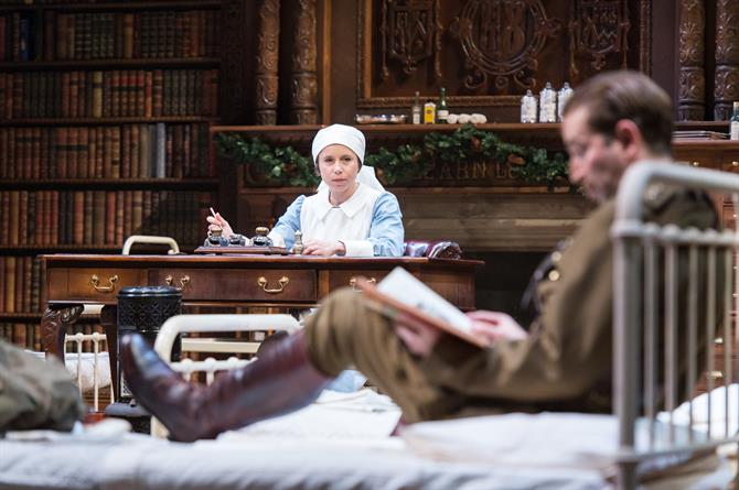 Michelle Terry as Beatrice and Edward Bennett as Benedick in Love's Labour's Won.