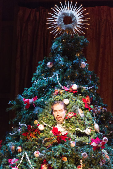 Benedick hides in a tree