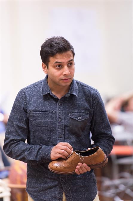 Chris Nayak in rehearsal for Love's Labour's Won.