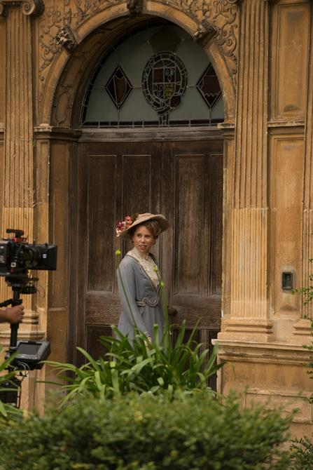 Michelle Terry filming at Charlecote Park