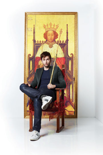 Production poster for Richard II 2013 featuring David Tennant