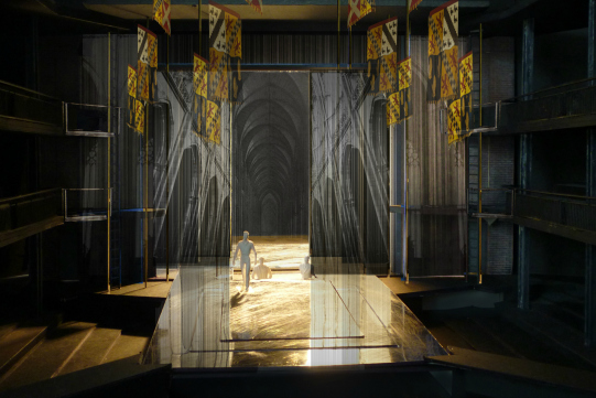 Designer Stephen Brimson Lewis's model box of the set for Richard II 2013