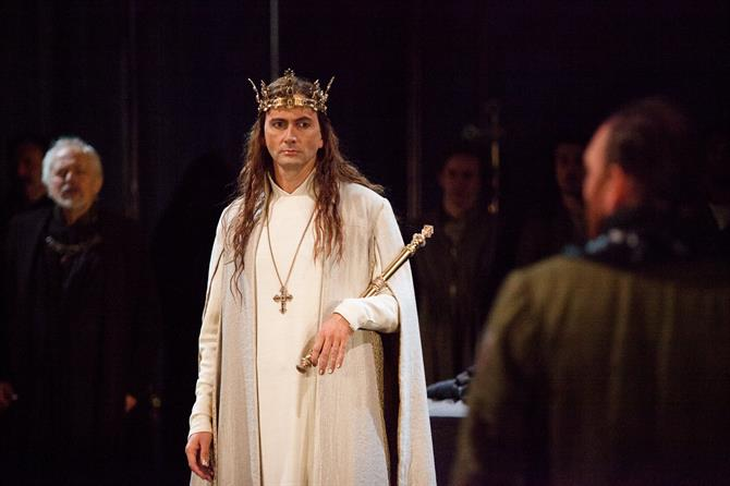 David Tennant as Richard II in Richard II