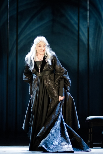 Jane Lapotaire as Duchess of Gloucester in Richard II