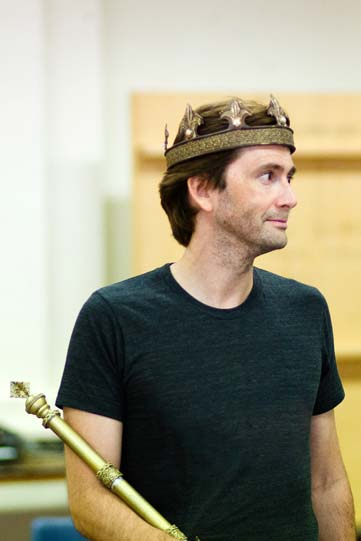 David Tennant in rehearsals for Richard II