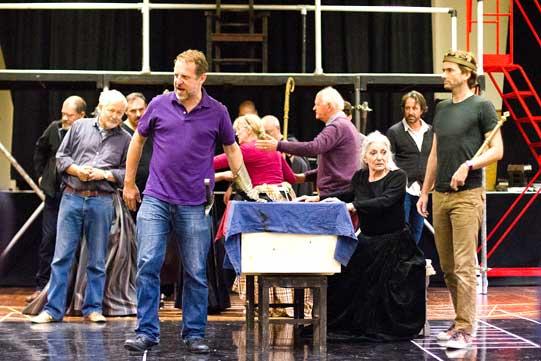 Richard II company in rehearsals
