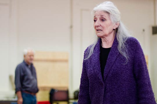 Jane Lapotaire in rehearsals for Richard II