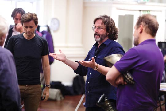 David Tennant and Gregory Doran in rehearsals for Richard II