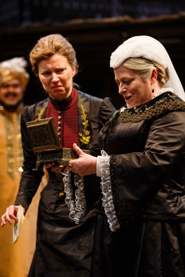 Kristin Hutchinson as Lady Sarah and Beatie Edney as Queen Victoria in The Empress.