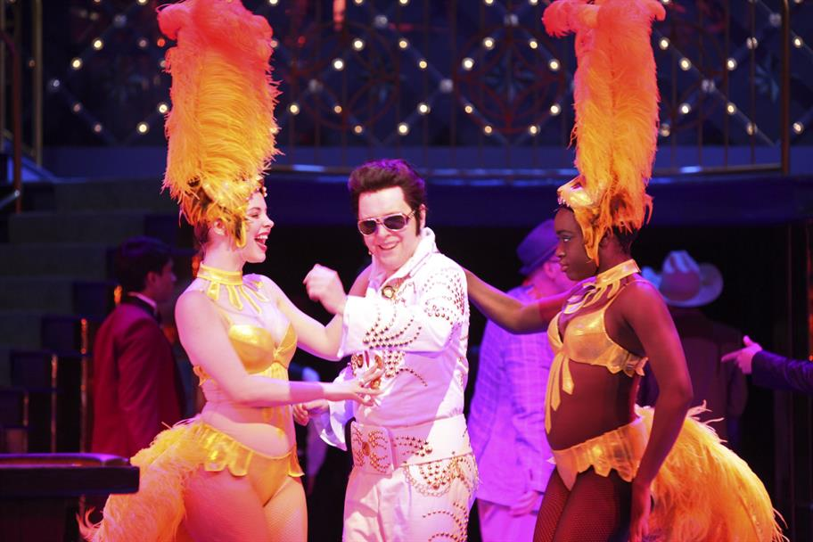 Launcelot Gobbo as an Elvis Impersonator in The Merchant of Venice 2011