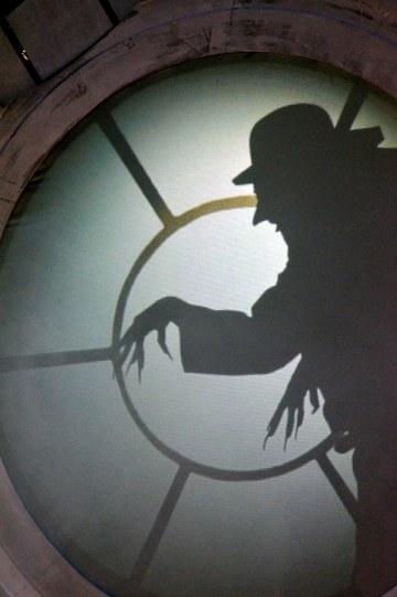 creepy silhouette of rat