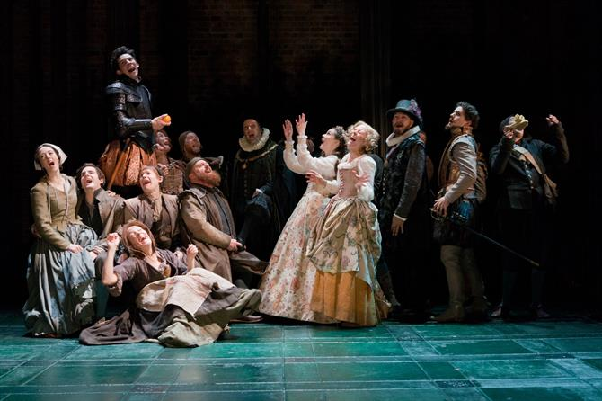 Production image of The Shoemaker's Holiday Company.