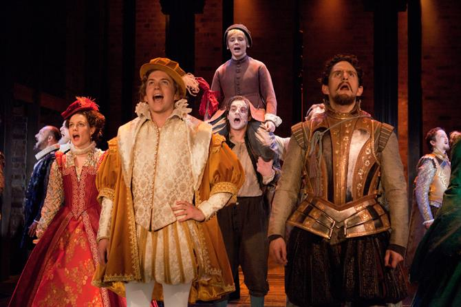 Production image of the Company of The Shoemaker's Holiday.