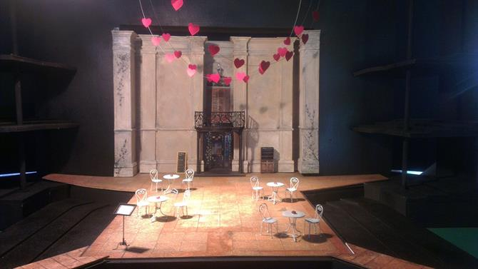 Designer Paul Will's model box for Verona in The Two Gentlemen of Verona 2014