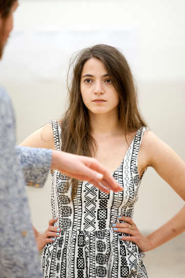 Pearl Chanda as Julia in rehearsal for The Two Gentlemen of Verona 2014