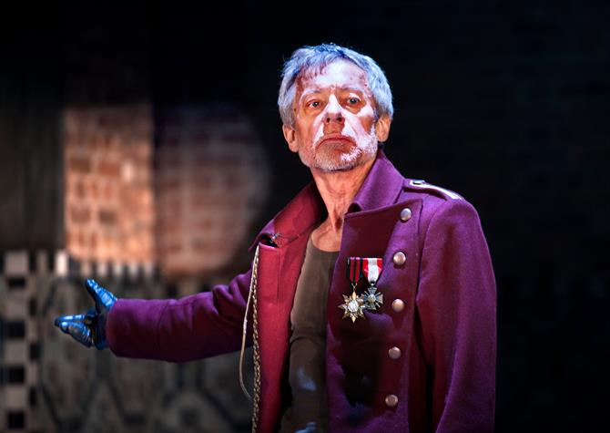 Production photo of Stephen Boxer as Titus