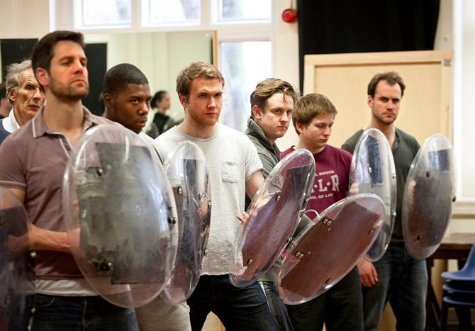 The cast of Titus Andronicus in rehearsal.
