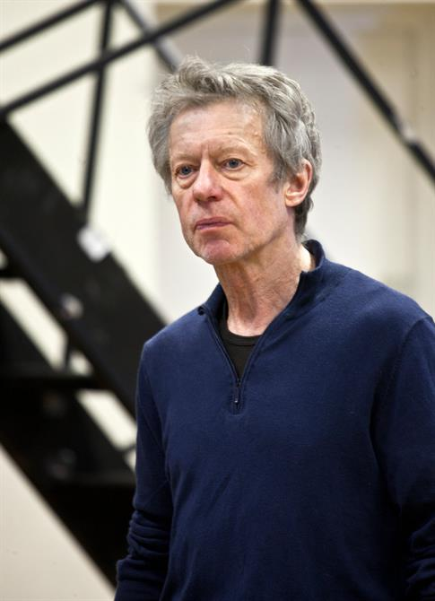Stephen Boxer in rehearsal for Titus Andronicus.
