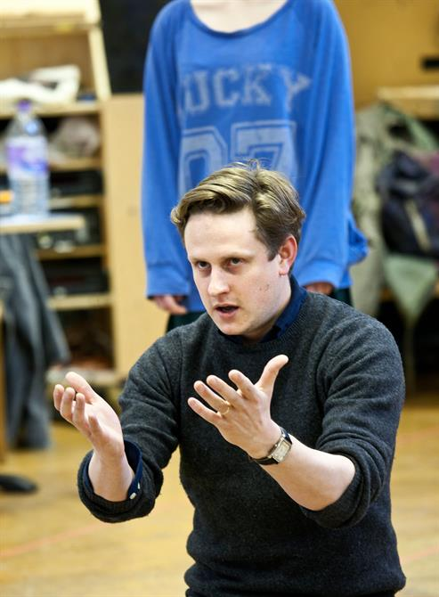 Rehearsal image of Richard Goulding.