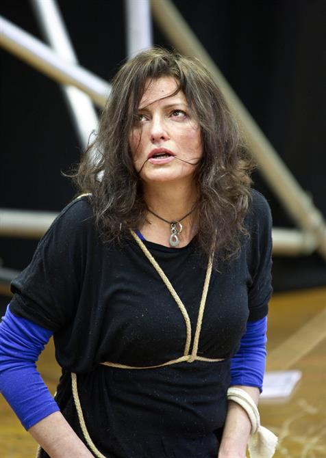 Rehearsal image of Katy Stephens.
