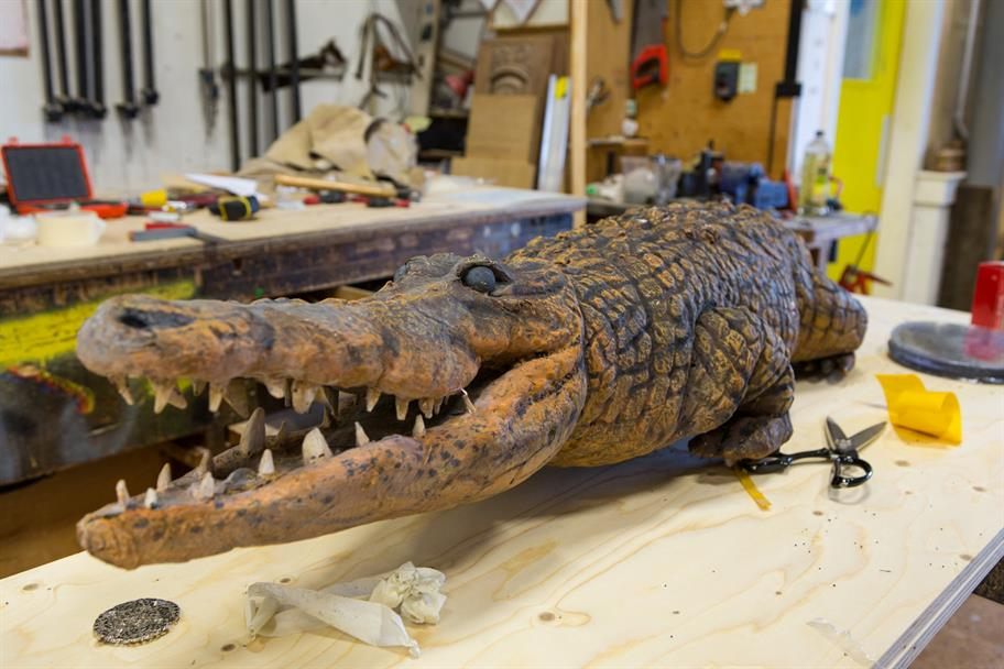 Making the prop crocodile for Wendy & Peter Pan, 2013