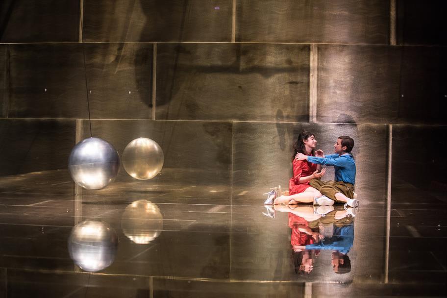 Portia and Nerissa in The Merchant of Venice 2015