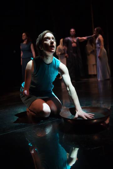 Nadia Albina as Cassandra in Hecuba.