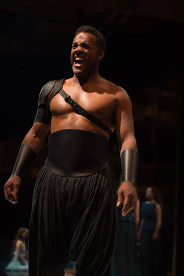 Ray Fearon as Agamemnon in Hecuba.