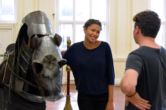 Evelyn Miller in rehearsal for Henry V