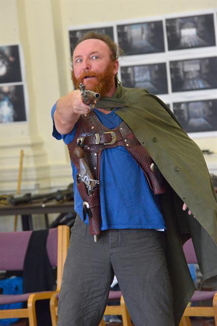 Antony Byrne in rehearsal for Henry V